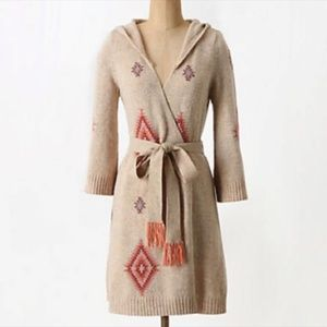 Anthropologie Lilka Wrap Hooded Wool Cardigan - M